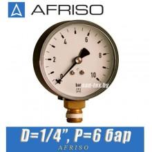 "Манометр Afriso RF 63 513 D1/4"" P=6 bar"