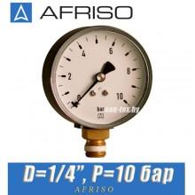 "Манометр Afriso RF 63 514 D1/4"" P=10 bar"