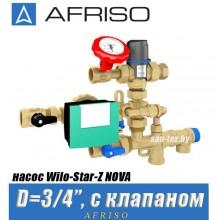 Насосная группа Afriso WZS 100 с клапаном (насос Wilo-Star-Z NOVA)