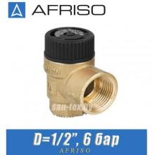 """Предохранительный клапан Afriso MSS D1/2"""" 6 бар"""