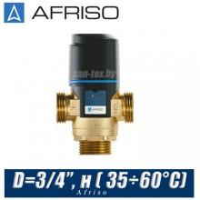 Трехходовой клапан Afriso ATM343 D=3/4'', н ( 35÷60°С)