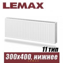 Стальной радиатор Lemax Valve Compact тип 11 300x400 мм