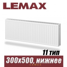Стальной радиатор Lemax Valve Compact тип 11 300x500 мм