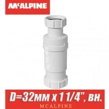 """Сифон сухой McAlpine MRNRV32-PB D=32мм x 1 1/4"""", вн."""