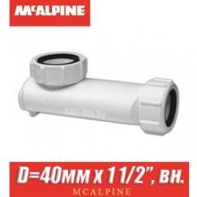 """Сифон сухой McAlpine WHB1-40 D=40мм x 1 1/2"""", вн."""