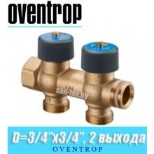 """Коллектор Oventrop Multidis R 3/4""""x20 мм (3/4""""), 2 выхода"""