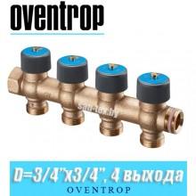 """Коллектор Oventrop Multidis R 3/4""""x20 мм (3/4""""), 4 выхода"""