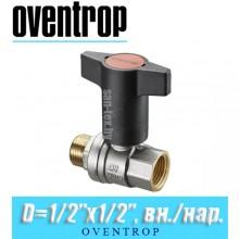 "Кран шаровый Oventrop Optibal D1/2""x1/2"", вн/нар."
