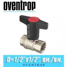 """Кран шаровый Oventrop Optibal D1/2""""x1/2"""", вн/вн."""