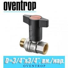 "Кран шаровый Oventrop Optibal D3/4""x3/4"", вн/нар."