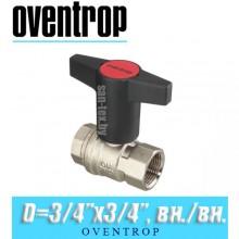 """Кран шаровый Oventrop Optibal D3/4""""x3/4"""", вн/вн."""