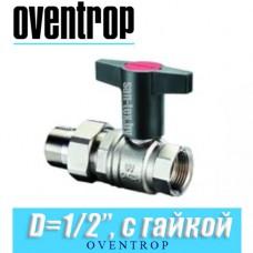 """Кран шаровый с американкой Oventrop Optibal D1/2"""""""