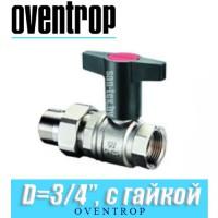 """Кран шаровый с накидной гайкой Oventrop Optibal D3/4"""""""