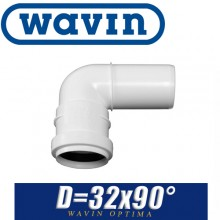 Угол канализационный Wavin Optima D32x90 град.