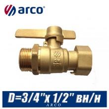 Кран шаровой Arco SIL с американкой D=3/4″x 1/2″ вн/нар