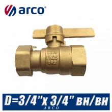 Кран шаровой Arco SIL с американкой D=3/4″x 3/4″ вн/вн