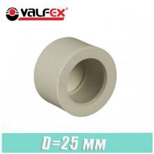 Заглушка паечная полипропилен Valfex D25мм