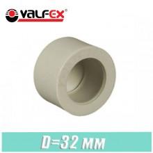 Заглушка паечная полипропилен Valfex D32мм