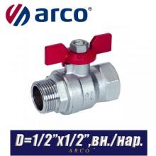 Кран шаровый Arco TURIA 3000/VA40 D1/2ʺx1/2ʺ, вн/нар.