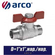 Кран шаровый Arco TURIA 3000/VA40 D1ʺx1ʺ, нар./нар.