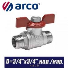 Кран шаровый Arco TURIA 3000/VA40 D3/4ʺx3/4ʺ, нар./нар.