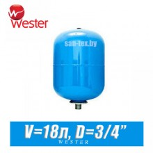 Расширительный бак для ХВС Wester 18 л (WAV18)