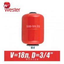 Расширительный бак для отопления Wester 18 л (WRV18)