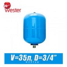 Расширительный бак для ХВС Wester 35 л (WAV35)
