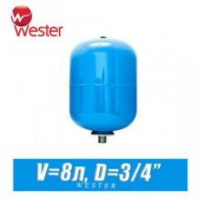 Расширительный бак для ХВС Wester 8 л (WAV8)