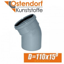 Угол канализационный Ostendorf D110x15 град.