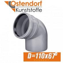 Угол канализационный Ostendorf D110x67 град.