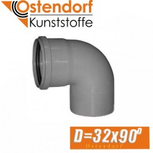 Угол канализационный Ostendorf D32x90 град.