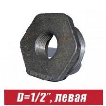 """Футорка чугунная D=1/2"""", левая"""
