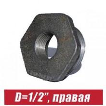 """Футорка чугунная D=1/2"""", правая"""