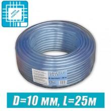 Шланг ПВХ  пищевой, технический D=10 мм, 25 м