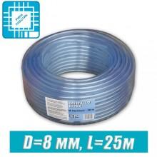Шланг ПВХ пищевой, технический D=8 мм, 25 м