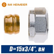 "Евроконус под медную трубку IMI Heimeier D=15x3/4"", вн"