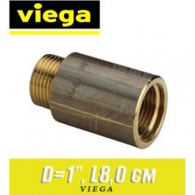 """Удлинитель бронзовый Viega D1"""", L8,0 см"""