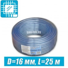 Шланг ПВХ пищевой, технический D=16 мм, 25 м