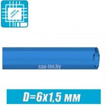 Шланг топливный, маслобензостойкий D=6x1,5 мм