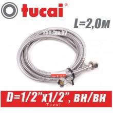 """Гибкая подводка Tucai D1/2""""x1/2"""", L2,0м, г/г"""