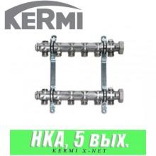 """Коллектор Kermi x-net HKA 5/4"""" (5 выходов)"""