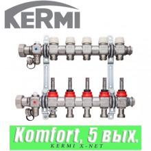 "Коллектор Kermi x-net Komfort 5/4"" (5 выходов)"