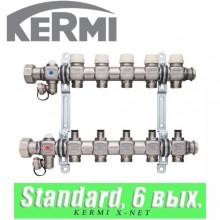 "Коллектор Kermi x-net Standard 5/4"" (6 выходов)"