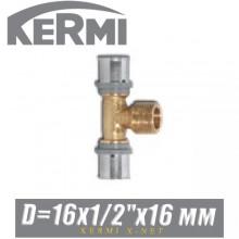 """Тройник под пресс Kermi x-net 16x1/2""""x16 мм, нар."""