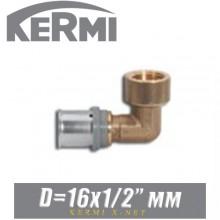 """Угол под пресс Kermi x-net D16x1/2"""", вн."""