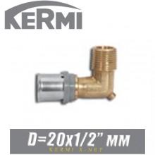 """Угол под пресс Kermi x-net D20x1/2"""", нар."""