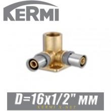 """Угол проходной с креплением Kermi x-net D16x1/2"""", вн."""
