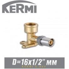 """Угол под пресс с креплением Kermi x-net D16x1/2"""", вн."""