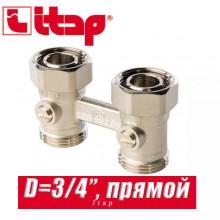 """Прямой двухтрубный клапан Itap D=3/4"""" арт. 305"""